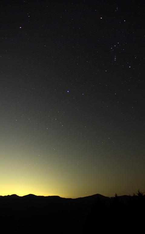 冬の大三角とカノープス